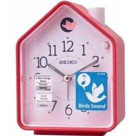 SEIKO CLOCK 精工 擇鈴聲 兩組鳥鳴 BB聲  森林原音 紅屋 鬧鐘 :QHP0