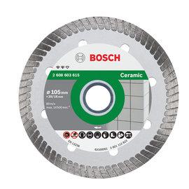 BOSCH 渦輪連續邊鑽石鋸片4英吋105×20×1.6mm(綠)★建築材料用
