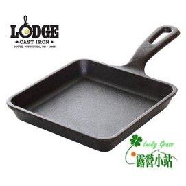 大林小草~【L5WS3】美國 LODGE 5吋方形鑄鐵平底煎鍋、煎盤、焗烤盤 (美國製)
