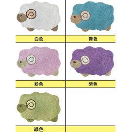 ~玫瑰物語~古典藝術品紫色綿羊踏墊立體 門墊40x60cm粉紅色綠色兒童動物墊子白色美學