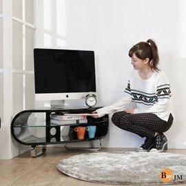BuyJM鏡面扇形鋼琴烤漆轉角電視櫃 102公分