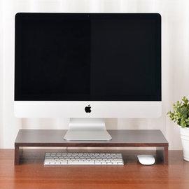 MAKINOU 防潑水原木紋螢幕桌上架~胡桃木色