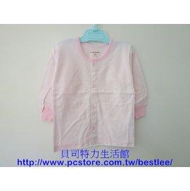 112B 單面薄棉長袖 18號 ^(條紋圓領 全開襟^)^|^| 小三福^(4~6個月^)