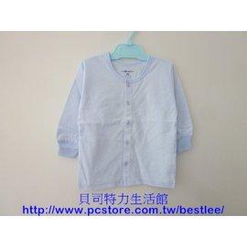 112B 單面薄棉長袖 22號^(條紋圓領 全開襟^)^|^| 小三福^(1~2歲^)^|