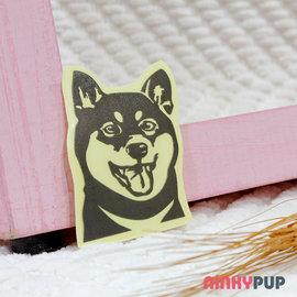 萌犬反光貼紙 柴犬 寫實款 寵物用品 外出提籠 狗屋 狗籠 毛小孩 夜間反光 防水貼 NP