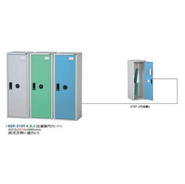 KDF~210T~B  鋼製多用途 式置物櫃^(全鋼製門片^)~綠色