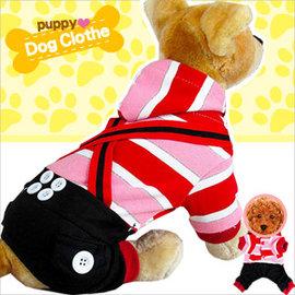 條紋吊帶寵物裝E118~A175 ^(寵物衣服寵物服裝寵物服飾店.毛小孩小狗衣服小貓衣服