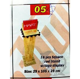 ◎百有釣具◎Pro Hunter 木製 16孔 置竿架 釣竿展示架 16Pcs wooden Rod stand