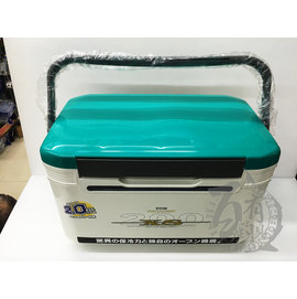 ◎百有釣具◎日本 RYOBI XS-200 2倍保冷力 20L 雙開式釣魚冰箱
