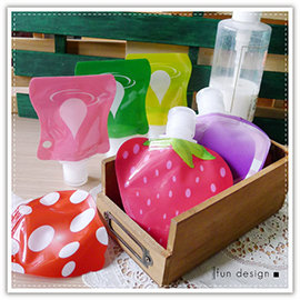 【Q禮品】A2805 糖果色乳液分裝瓶/創意 水果 造型 分裝瓶/液體分裝袋/旅行收納/行李箱收納/隨身攜帶