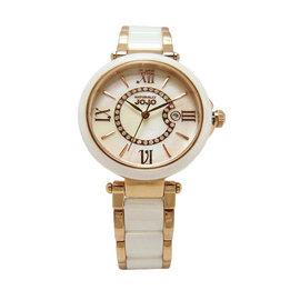 NATURALLY JOJO 浪漫羅馬城 陶瓷女性 腕錶~玫瑰金~JO96891~81R