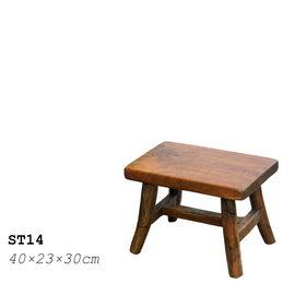 原木椅凳ST14— 柚木矩形小椅凳 小板凳 兒童椅小孩椅穿鞋椅 厚實紮實 大人也可坐 好做