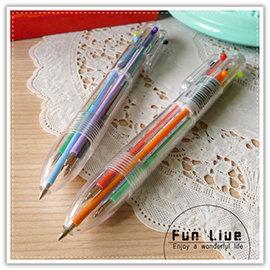 【Q禮品】A2815 透明6合1原子筆/彩色原子筆/六合一原子筆/多色中性筆/廣告 贈品筆/贈品禮品/文具用品
