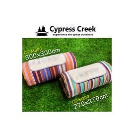大林小草~【CC-M001A】賽普勒斯Cypress Creek 270*270-綠條紋 野餐墊 防潮地墊 沙灘墊