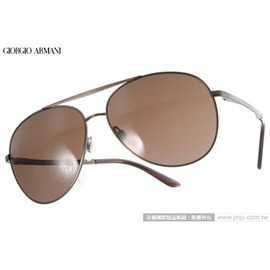 GIORGIO ARMANI 太陽眼鏡 GA6030 312273 ^(棕^) 紳士風百搭