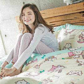 床包  單人~甜甜好眠~米~含一件枕套,麻吉貓聯名 ^( 399 10件^)