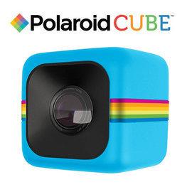 ~和信嘉~Polaroid Cube 骰子相機^(藍色^) 迷你行動攝影機 貨  一年