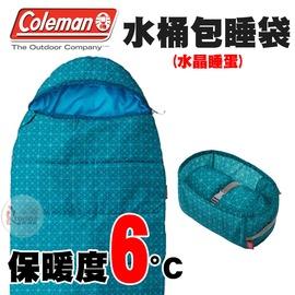 探險家戶外用品㊣CM-27276 美國Coleman 6度水晶藍睡蛋 人形寢袋可機洗 蛋型睡袋化纖睡袋露營寢袋