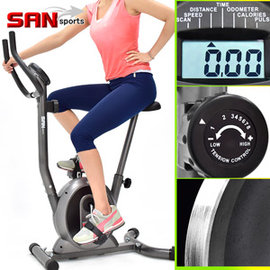 【SAN SPORTS】經典立式磁控健身車 C149-037(室內腳踏車自行車.飛輪車飛輪式美腿機.運動健身器材.推薦哪裡買)