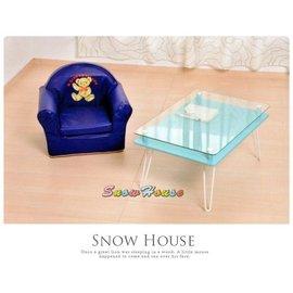 ╭~雪之屋居家 館~╯AA586~01太子椅^(藍色皮^) 兒童沙發 小沙發 休閒椅 和室