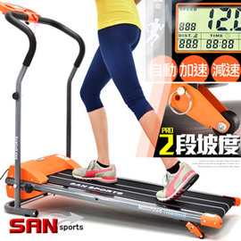 SAN SPORTS飆蜂電動跑步機C082-168A (時速12公里+雙坡度+避震墊)電跑美腿機另售磁控跑步機.飛輪健身車磁控健身車腳踏車.單槓踏步機健腹機