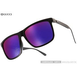GUCCI 太陽眼鏡 GG1083FS GVBMI (灰-黑) 完美品味率性水銀鏡面款 墨鏡 # 金橘眼鏡