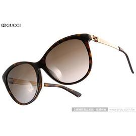 GUCCI 太陽眼鏡 GG3797FS ANTHA (琥珀-金) 別緻LOGO優雅貓眼款 墨鏡 # 金橘眼鏡