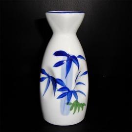 日式陶瓷清酒壺 彩繪和式酒具 藍彩印小號溫酒瓶160ml