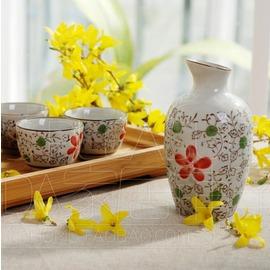 Kingda家居鋪子 紅花朵 出口 日式清酒壺 清酒具 只有酒壺了