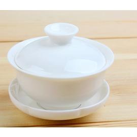 功夫茶蓋碗 純白色蓋碗 敬茶 玉瓷蓋碗 白色蓋碗 功夫茶具 蓋碗