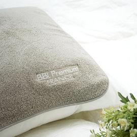~ 舒眠↘72折起~BBL 100^%純棉舒適枕巾~迷霧灰^(1對^)