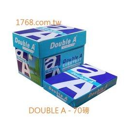 ~DOUBLE A 白色影印紙~A4 ~70P ~ 10包 箱  DOUBLEA  dou