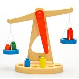 蒙臺梭利蒙氏教具 早教益智 木制天平 兒童稱重平衡認知啟蒙玩具
