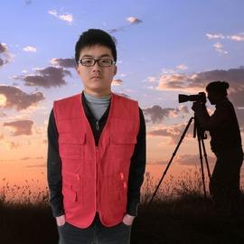 記者導演服戶外攝影背心照相釣魚工作馬甲工裝馬甲印字馬甲工服