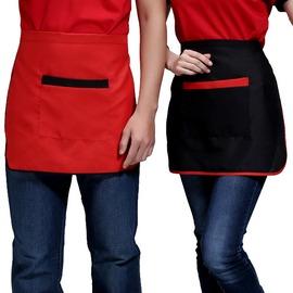 酒店服務員工作服圍裙咖啡廳西餐廳系腰廚師圍裙男女快餐廳圍腰
