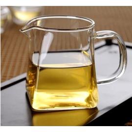 加厚耐熱玻璃公道杯大號茶海方形分茶器公杯功夫茶具全網包郵