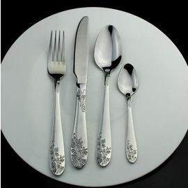 西餐主餐餐具4件套裝水果刀叉牛排刀叉 西餐刀不�袗�勺子叉子調羹