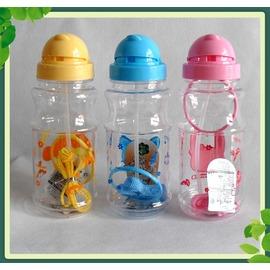 兒童水杯帶背帶便攜吸管杯幼稚園學生杯水壺定制廣告杯印LOGO