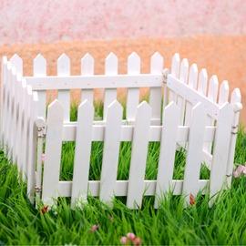 白色木圍欄隔斷屏風實木柵欄籬笆護欄戶外裝飾田園圍欄 家庭裝修