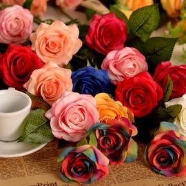 玫瑰假花仿真花束絹花客廳擺設落地花藝仿真花套裝插花家居飾品