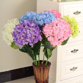 婚慶單支繡球花仿真花絹花落地高花歐式插花客廳落地擺放浪漫花藝