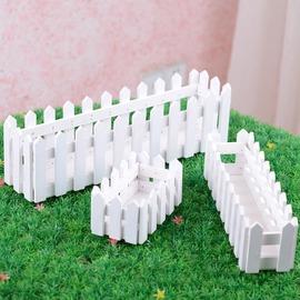 精美白色花器木柵欄木盒木制花簍花瓶容器插花 拍攝道具