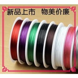 DIY項鏈繩 鋼絲線銅絲串珠 手鏈引線針水晶珠寶飾品