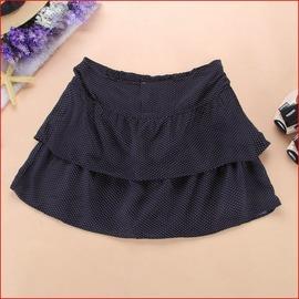 夏深藍色圓點波點 短裙 半身裙 外貿店清貨女裝 裙深藍色
