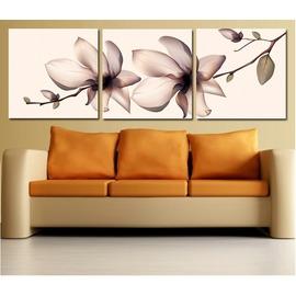 8 抽象桃花 客廳裝飾畫 書房無框畫 掛畫壁畫 臥室三聯畫無框畫噴畫定制
