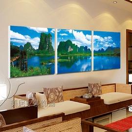 3辦公室裝飾畫風景畫客廳無框畫書房掛畫竹子字畫定做電表箱畫