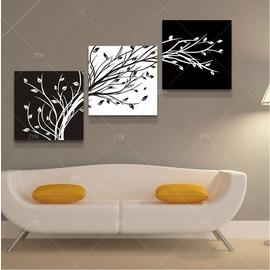7抽象樹 歐式新房客廳裝飾畫走廊掛畫臥室無框畫沙發后三聯畫無框畫噴畫