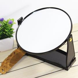 歐式 臺式鏡圓形化妝鏡公主鏡 鏡子超大號 臺鏡美容鏡梳妝鏡包郵