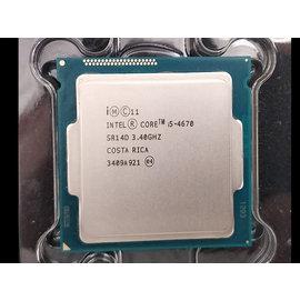 含稅~Intel Core i5~4670 3.4G 6M C0 SR14D 1150 四