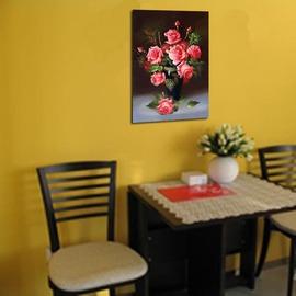 玫瑰花裝飾畫 靜物圖 歐式�椈懇e掛畫 餐廳無框畫 書房 客廳